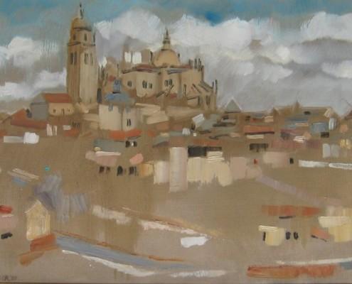 Widok Segovii, 54x73 cm, olej/p?ótno, 2009