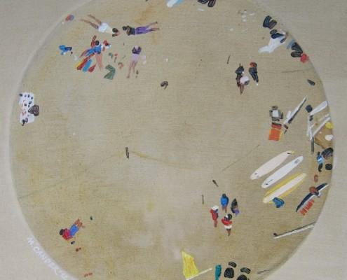 Plaża - tondo I, 50x50 cm