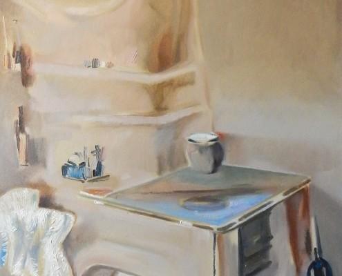 Hommage a Jerzy Gnatowski, olej, plotno 73x54 cm