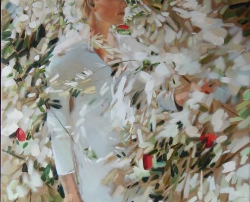 Harmonia w bieli, 92x73 cm, 2014