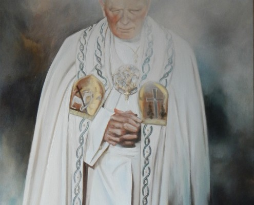 Papież, 92x73 cm, 2014