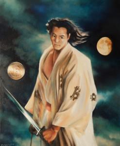 Satoshi nakamoto III, olej-płotno, 80c65 cm