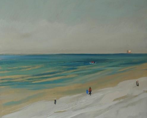 Lagodny błękit, olej-płótno, 50x50 cm, 2014