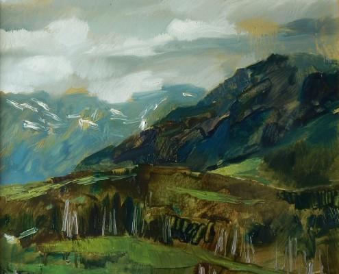 Głodówka-widok w stronę Rusinowej Polany, 50x50 cm, 2015