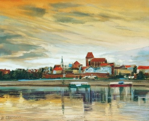 Panorama Torunia-studium, 40x50 cm, olej-płotno, 2015