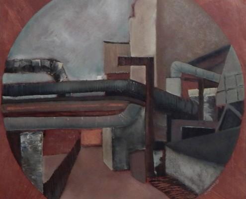 Pejzaż przemysłowy, 50x50 cm, 1986 (2)