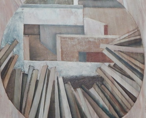 Pejzaż przemysłowy, 50x50 cm, 1986
