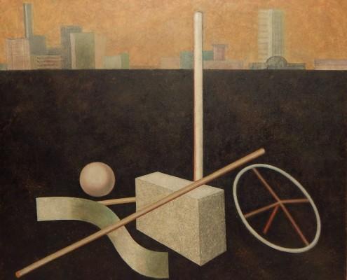 Zagubione rzeczy II, 100x120 cm, 1988