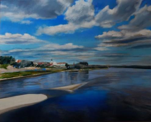 Panorama Fordonu, 73x92 cm, olej,płótno, 2017