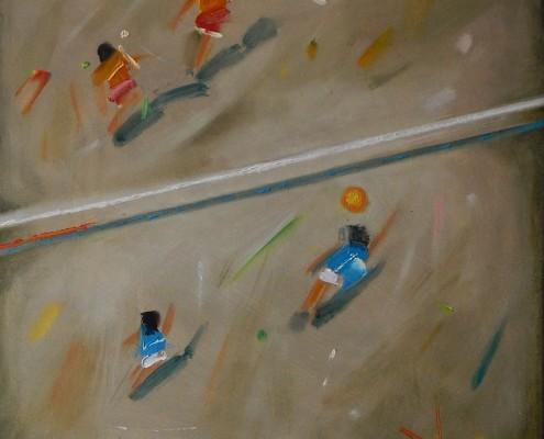 W stronę abstrakcji II, olej, 50x50 cm.płótno, 2016