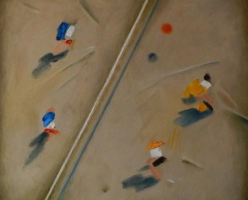 W stronę abstrakcji III, olej, 50x50 cm. płotno, 2016