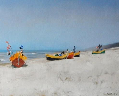 Kutry na plaży I, 40x50 cm