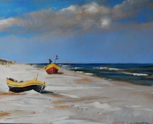 Kutry na plaży II, 40x50 cm