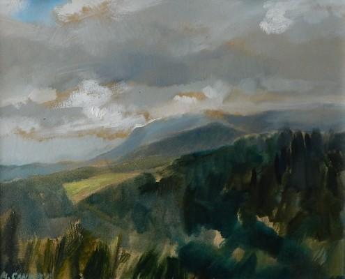 Pejzaż z Bukowiny 40x50 cm, 2018